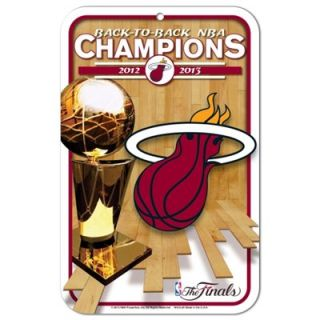 Miami Heat 2013 NBA Finals Champions 11 x 17 Plastic Reserved Parking Sign