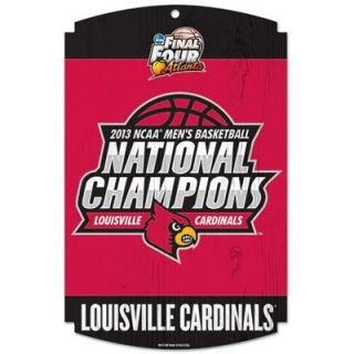 Louisville Cardinals 2013 NCAA Mens Basketball National Champions 11 x 17 Wood Sign