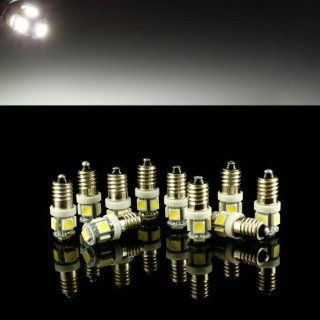 10xE10 1.2w 6500k 70 Lumen 5 SMD LED Car White Light Bulbs Automotive