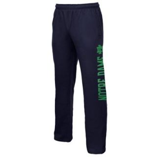 Notre Dame Fighting Irish Logo Wordmark Fleece Pants   Navy Blue
