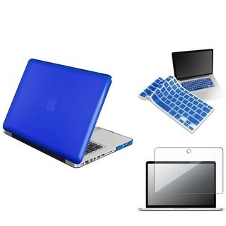 Blue Case/ Screen Protector/ Keyboard Shield for Apple MacBook Pro Eforcity Tablet PC Accessories