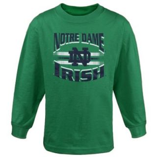 Notre Dame Fighting Irish Youth Arch Bar Long Sleeve T Shirt   Green