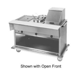 "Eagle Group PHT5CB 208 81.75"" Portable Hot Food Table   5 Dry Wells, Sliding Doors, 208v, Each Kitchen & Dining"