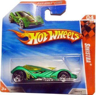 2010 Hot Wheels SINISTRA 4 of 4 Race World Cave #206 (green) SHORT CARD Toys & Games