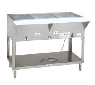 Supreme Metal SW 2E 208/240 MT Hot Food Table w/ 2 Wells, Manifold Drain, Thermostatic, 208/240 V, Each Sports & Outdoors
