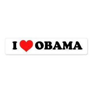 "Obama For President 2012 I Heart Obama car bumper sticker window decal 8"" x 2"" Automotive"