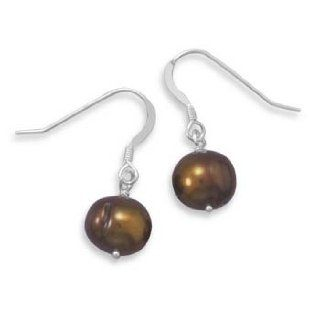 Bronze Cultured Freshwater Pearl Earrings on French Wire Jewelry