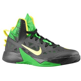 Nike Zoom Hyperfuse 2013   Mens   Basketball   Shoes   Black/Apple Green/Yellow Strike