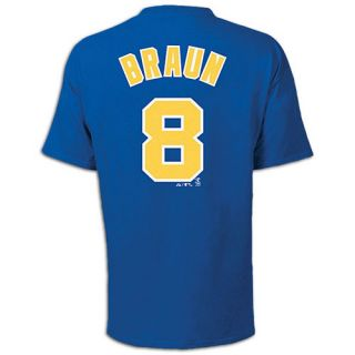 Majestic MLB Name and Number T Shirt   Mens   Baseball   Clothing   Milwaukee Brewers   Braun, Ryan   Royal