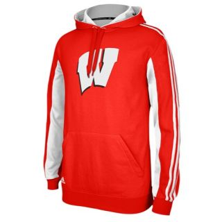 adidas College Statement Pullover Hoodie   Mens   Basketball   Clothing   Wisconsin Badgers   Red/White