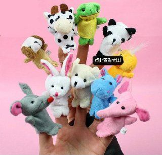 10pcs Wholesale Finger Hand Animal Shaped Puppets Baby Childs Kids Learn Story Xmas Toy Gift Toys & Games