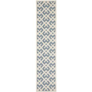 Safavieh CY6915 233 Courtyard Collection Indoor/Outdoor Area Rug, 2 Feet by 3 Feet 7 Inch, Blue and Bone