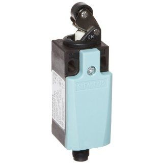 Siemens 3SE5 234 0HE10 1AC4 Mechanical Position Switch, Complete Unit, Plastic Enclosure, 31mm Width, Roller Lever, M12 Connector Socket, 4 Pole, Snap Action Contacts, Integrated, 1 NO + 1 NC Contacts