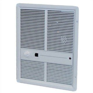 5, 120 BTU Fan Forced Electric Wall Space Heater with Summer Fan Forced Switch Finish Ivory
