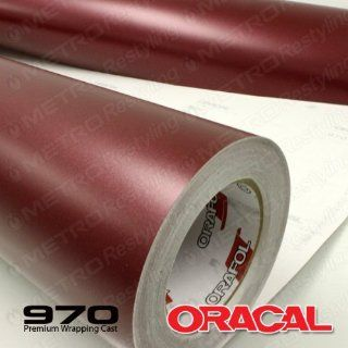 ORACAL 970RA 369 MATTE Red Brown Metallic Wrapping Cast Vinyl Car Wrap Film 5ft x 10ft (50 Sq/ft) Automotive
