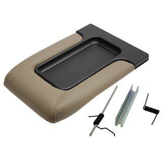 Factory Replacement Center Console Seat Lid 99 06 Chevy Silverado, GMC Sierra, 00 06 Suburban, Tahoe Yukon   Beige Automotive