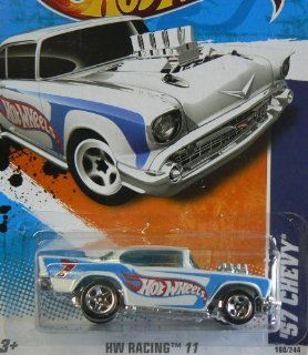 2011 Hot Wheels '57 Chevy White #160/244 Toys & Games