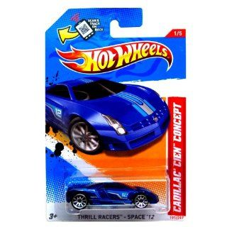 Hot Wheels Blue Cadillac Cien Concept 1 of 5 2012 Thrill Racers Space 191/247 Toys & Games