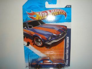 2011 Hot Wheels  Exclusive Ford Mustang Fastback Blue/Orange #89/244 Toys & Games