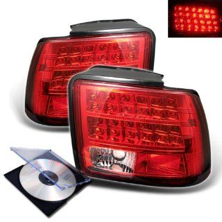 RXMOTOR 1999 2004 FORD MUSTANG EURO LED TAIL LIGHTS REAR BRAKE LAMP SIGNAL + INSTALL GUIDE Automotive