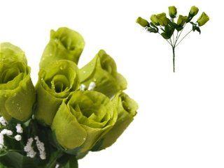 252 Silk Buds Roses Wedding Flowers Bouquets SALE   Sage Green   Artificial Flowers
