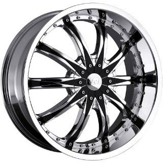 VCT WHEELS ABRUZZI CHROME/BLK.INSERT 5X115/5X120 +1   22X9 Automotive