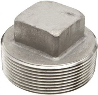 Stainless Steel 304 Pipe Fitting, Square Head Plug, Class 1000, NPT Male