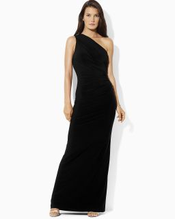 Lauren Ralph Lauren Petites One Shoulder Gown's