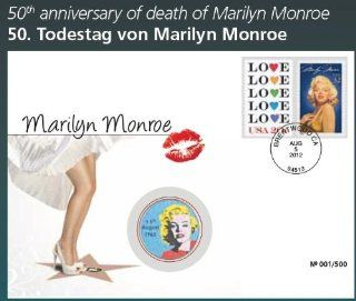 "USA Histroric Movie World Stars Philatelic Numismatic Cover Letter "" Marilyn Monroe   50th Date of Death 1962   2012 "" With Colored US 1/2 Half Dollar $ Coin And The Official Stamp Sports & Outdoors"