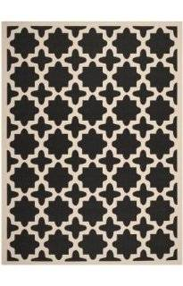 Safavieh CY6913 266 Courtyard Collection Indoor/Outdoor Area Rug, 2 Feet by 3 Feet 7 Inch, Black and Beige