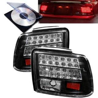 RXMOTOR 1999 2004 FORD MUSTANG GT TAIL LIGHTS LED REAR BRAKE SIGNAL COUPE + INSTALL GUIDE Automotive