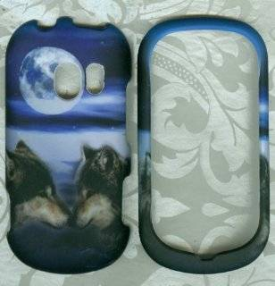 rubberized moon wolf love LG EXTRAVERT vn271 verizon phone cover case Cell Phones & Accessories
