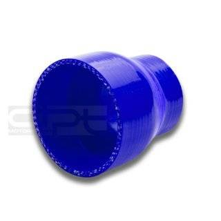 "DPT, SH 2 275 BL, 2"" to 2.75"" Straight Transition Reducer 3 Ply 4mm Thickness High Temperature Performance Blue Silicone Hose Coupler Connector for Turbo Exhaust Intake Intercooler Automotive"