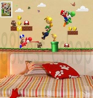 FunDecor Super Mario Bros Kids COOL Removable Wall Sticker DECAL PVC QZ HA275