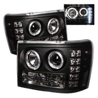GMC Sierra 1500/2500/3500 07 08 09 / GMC Sierra Denali 08 09 Halo Projector Headlights   Black (Pair) Automotive
