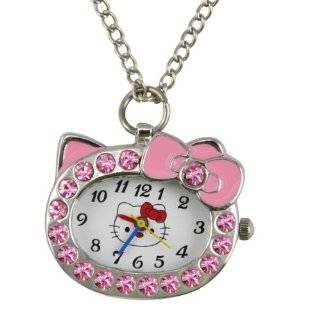 World Pride Kitty Frame Watch Pendant Necklace (Pink Case) Jewelry