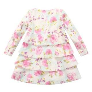Richie House Girl's Girl's Floral Tiered Dress coat RH0709 Clothing