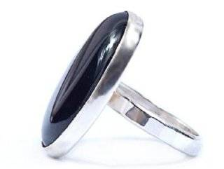 Hanfords of London Black Onyx & Silver Handmade Ring; Birthstone for Leo, July and December; Size 5.5 Anne Hanford Dodgson Jewelry