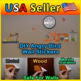 DIY Angry Bird Wall Decals/stickers for Kids Playroom   Childrens Wall Decor