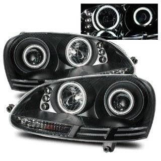 Volkswagen Rabbit Black CCFL Halo Projector Headlights   Fits S Hatchback 4 Door Automotive