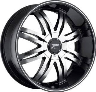 PLATINUM   type 298/299 diamonte   22 Inch Rim x 8.5   (5x115/5x4.75) Offset (43) Wheel Finish   diamond cut with black Automotive