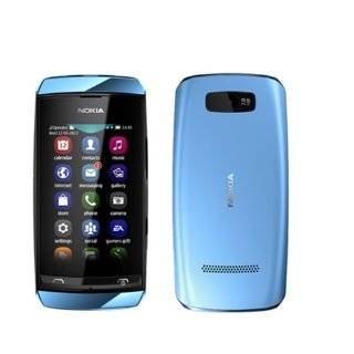 Brand New Nokia Asha 306 Blue Factory Unlocked GSM PHONE GSM 850/1900 US Version Cell Phones & Accessories