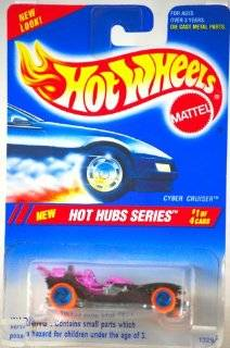 1994   Mattel   Hot Wheels   Hot Hubs Series   Cyber Cruiser   Metallic Red / Purple   #1 of 4 Cars   164 Scale Die Cast   Collector #307   MOC   Out of Production   Limited Edition   Collectible Toys & Games