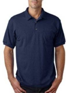 Gildan Adult Gildan Dryblendjersey Polo With Pocket, Navy, L