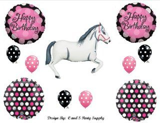 White Horse Cowgirl BIRTHDAY PARTY Balloons Decorations Supplies