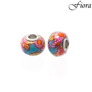 Children Collection Sunny Water Flowers Murano Glass Bead  Fiora Italian Charms Fiora Jewelry