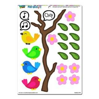 Graphics and More 'Birds on a Branch' MAG NEATO'S Novelty Gift Locker Refrigerator Vinyl Magnet Set   Dishwasher Magnets