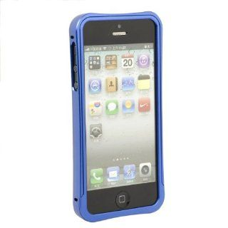Blue Clear Aluminum Mental Frame Bumper Case Cover For iPhone 5 5G PC339L Cell Phones & Accessories