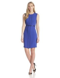 Calvin Klein Women's Sheath Dress with Belt Clothing