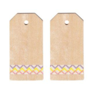 Dress My Cupcake Classic Wooden Gift and Favors Tags DIY Kit, Easter Chevron, Pink/Yellow/Lavender